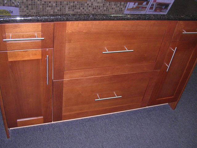 cherry shaker kitchen cabinets. Natural Cherry Shaker Kitchen Cabinets Photo Album gallery image