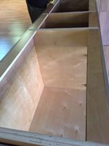 unfinished natural American cherry shaker Kitchen Cabinets gallery image