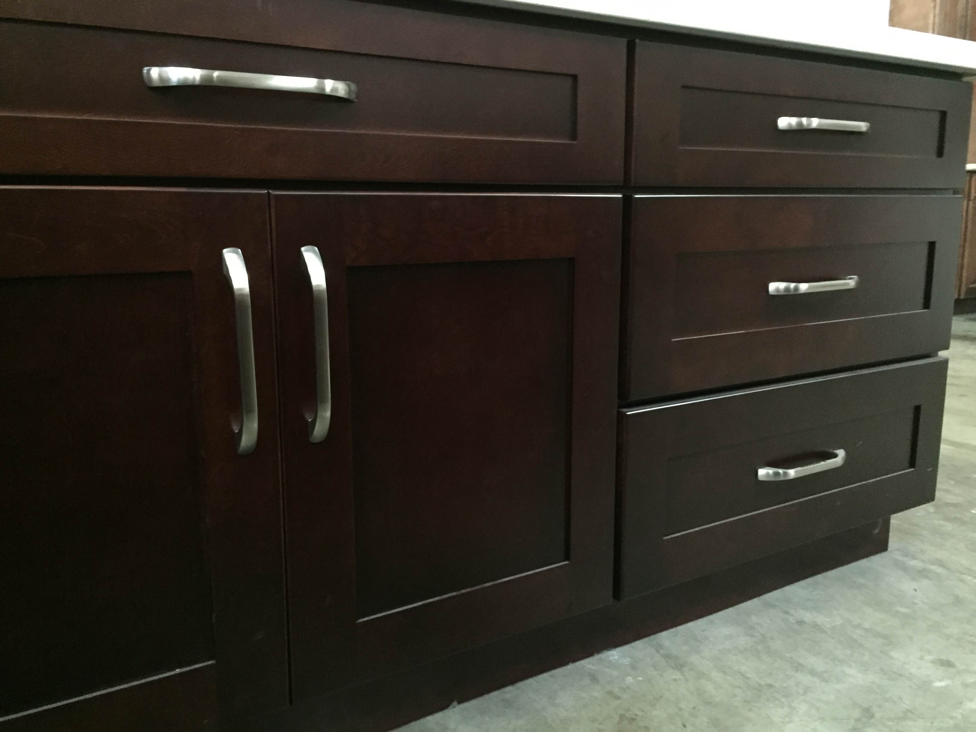 Black cherry colored maple shaker kitchen cabinets photo album for Shaker cabinets