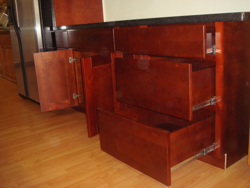 Cherry Shaker Kitchen Cabinets cherry colored birch shaker kitchen cabinets photo album