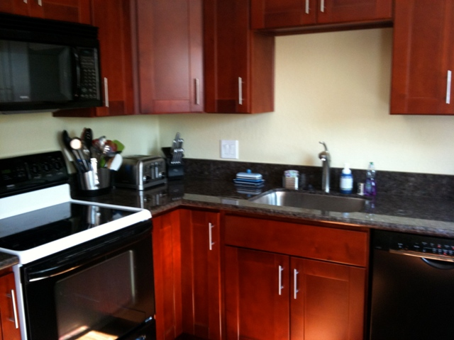 cherry colored birch shaker kitchen cabinets photo album. Black Bedroom Furniture Sets. Home Design Ideas