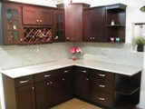 Espresso Beech Shaker Kitchen Cabinets Photo Album gallery image