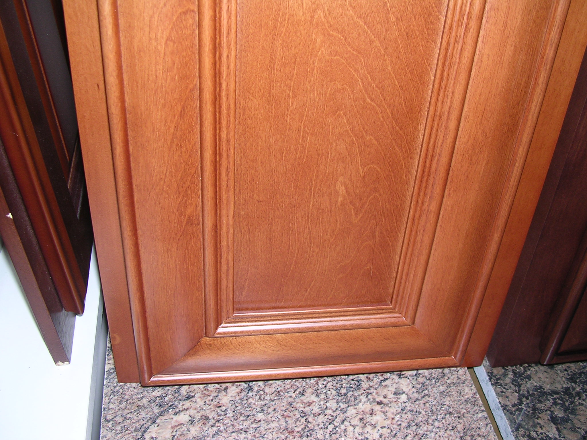 Honey Glazed Birch Kitchen Cabinets