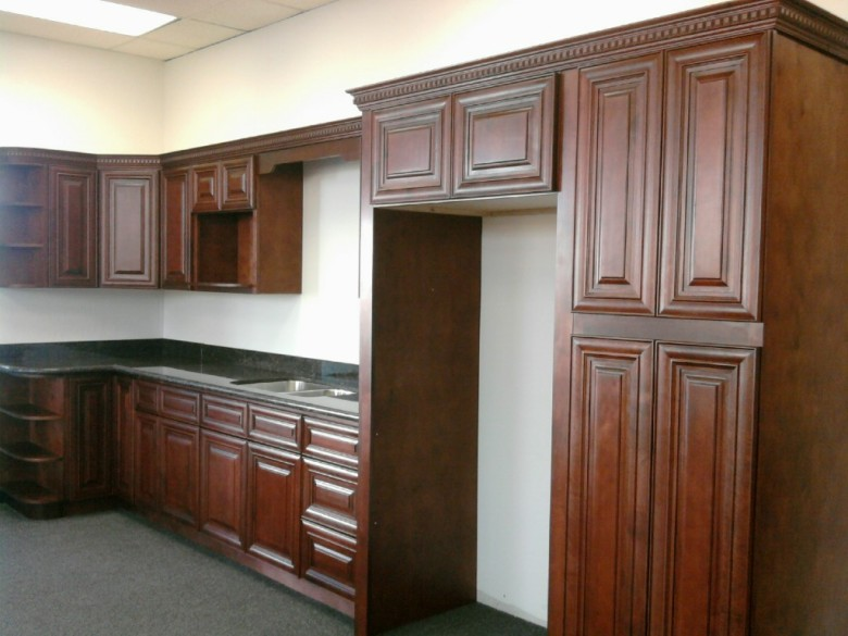 mahogany colored maple kitchen cabinets gallery image - Mahogany Kitchen Cabinets