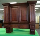 Mahogany colored Maple Kitchen Cabinets gallery image
