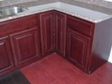 Red North American Cherry Kitchen Cabinets gallery image