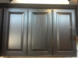 Espresso Birch Raised panel Door Kitchen Cabinets Photo Album gallery image