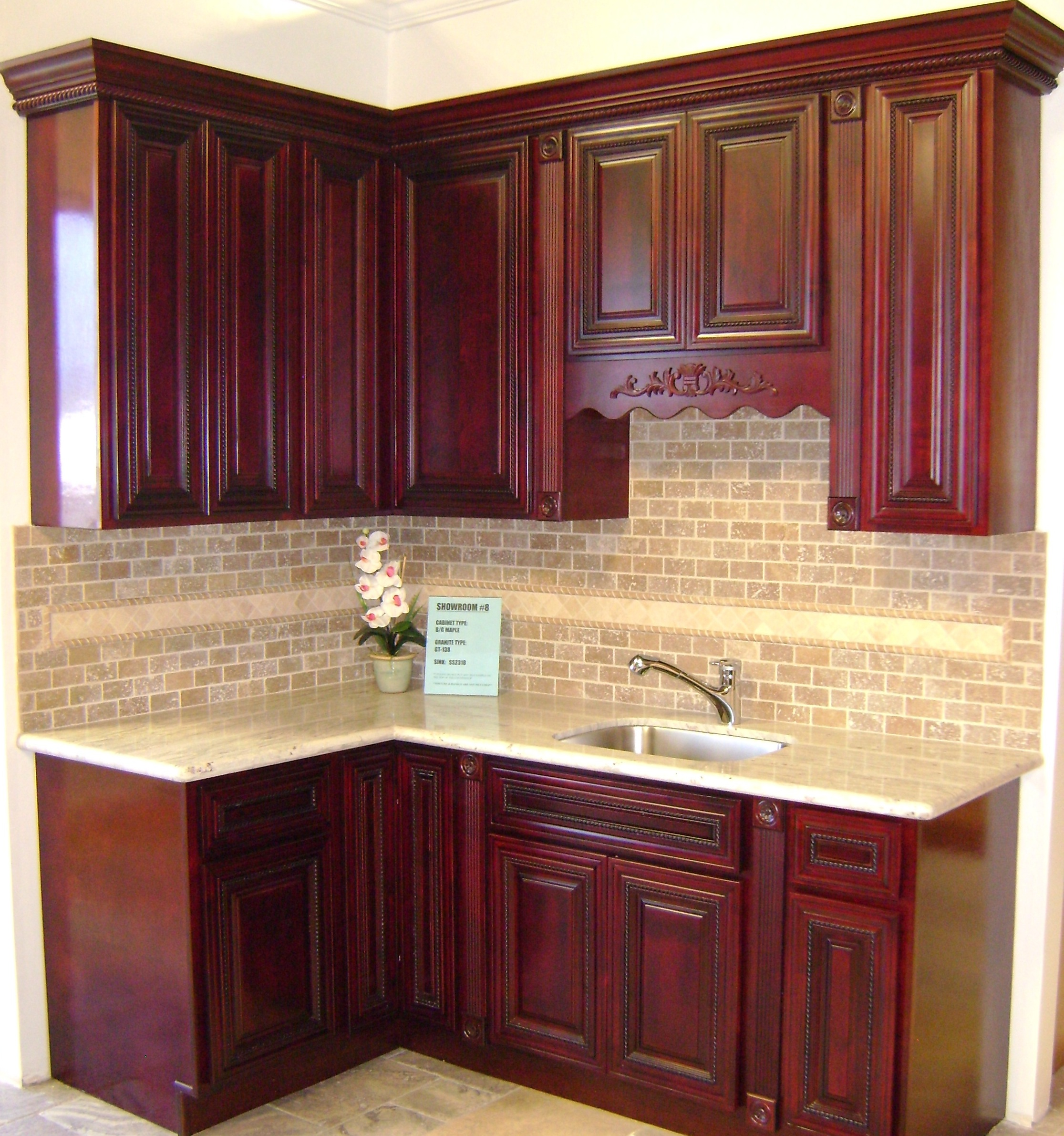Burgundy Rope Maple Kitchen Cabinets
