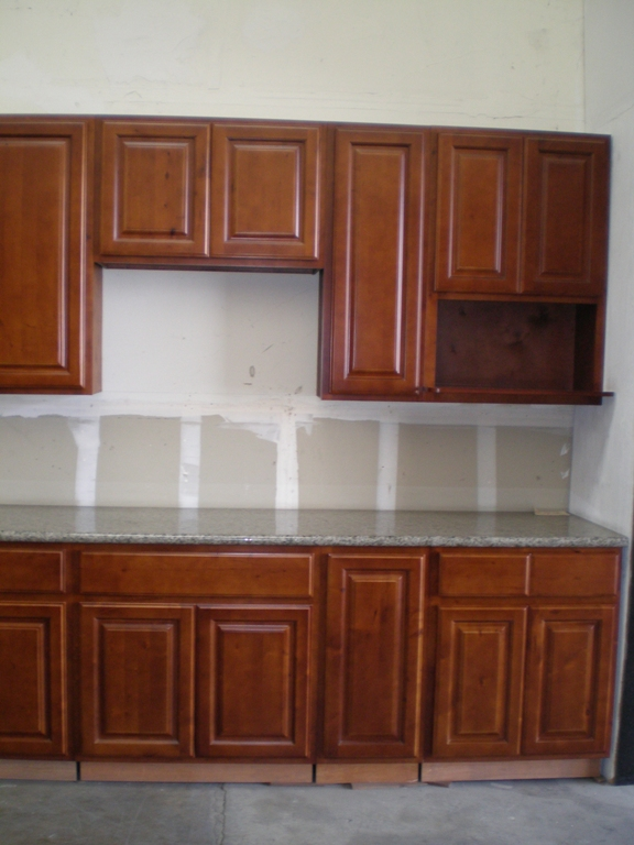 Cherry Color Russian Birch Kitchen Cabinets
