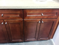 Antic Cherry colored Maple Kitchen Cabinets gallery image