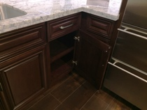 English Walnut colored Cherry Kitchen Cabinets gallery image