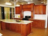 Mocca Maple Glazed Kitchen Cabinets gallery image