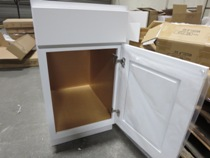 Premium white Maple Shaker cabinets gallery image