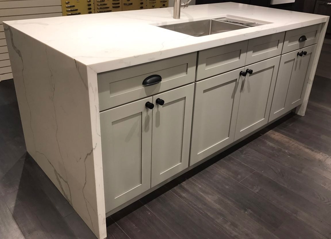 Snow White & French Grey Shaker Kitchen and Vanity Cabinets