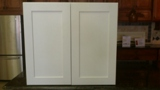 Snow White Maple Shaker Kitchen Cabinets gallery image