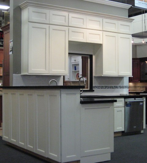 Kitchen Cabinet Skins: White Maple Hampton Kitchen Cabinets
