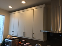 White Painted Slab Modern Kitchen Cabinets gallery image