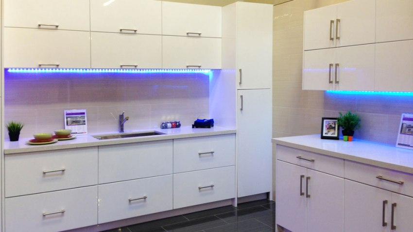 High gloss white flat slab panel cabinets for Catalog kitchen cabinets