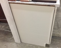 Off-White Maple Raised Panel Kitchen Cabinets gallery image
