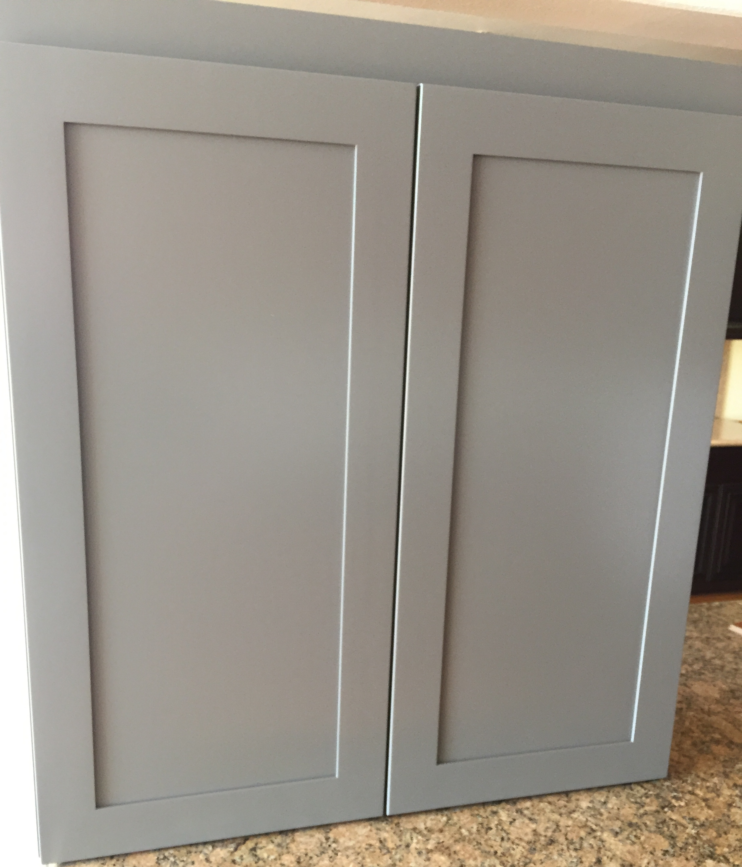 Gray Poplar Hardwood Shaker Kitchen Cabinets Photo Album