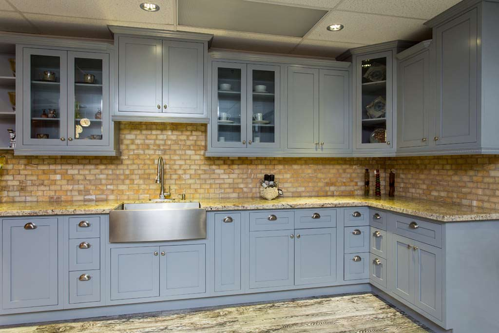 Grey Inset Shaker Kitchen & Bath Cabinets