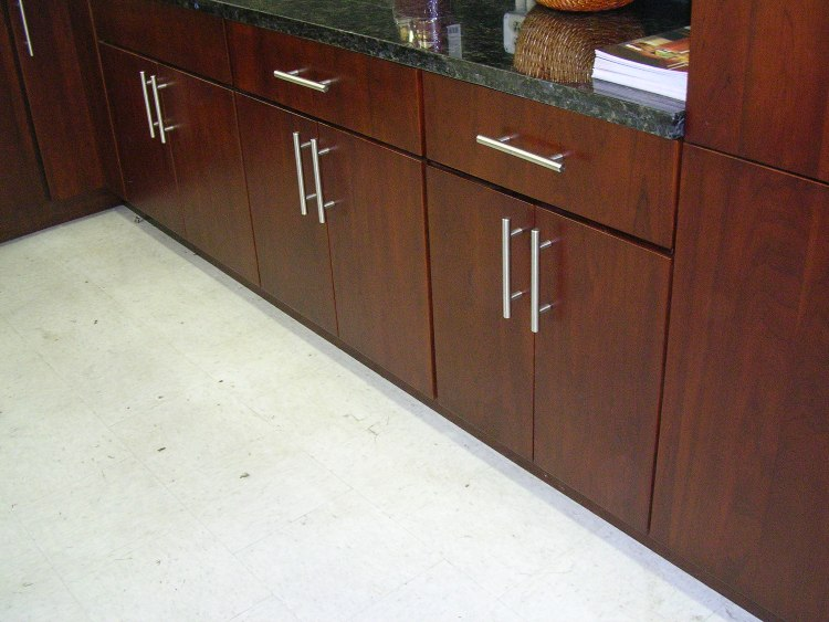 Cherry Slab Door Kitchen Cabinets M14