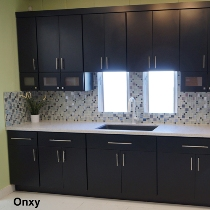 Black Slab Modern Kitchen and Vanity cabinets gallery image