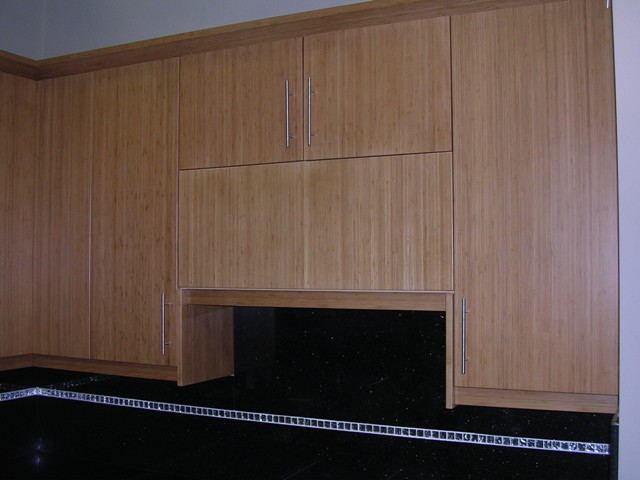 Bamboo Flat Panel Kitchen Cabinets Gallery Image