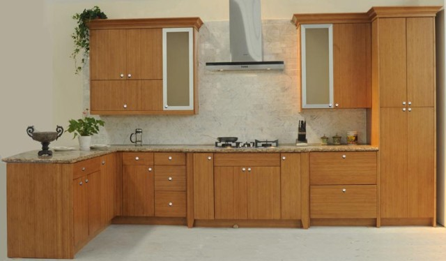 slab front kitchen cabinets bamboo flat panel kitchen cabinets 5305