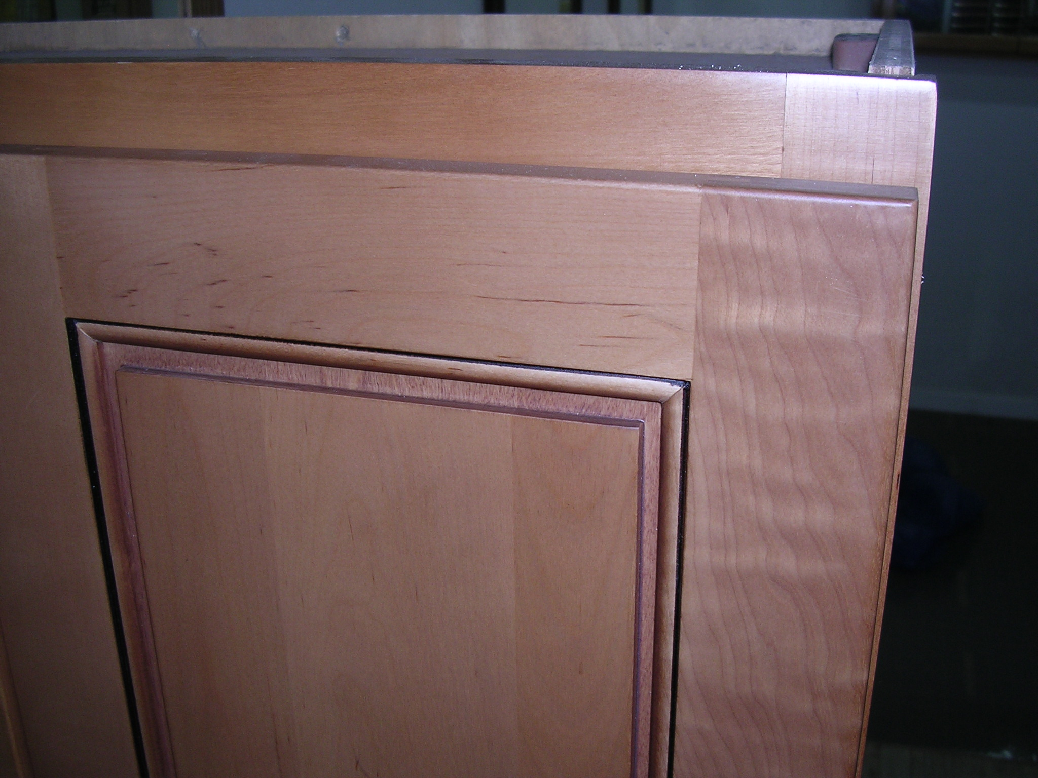 Cafe Colored Maple Flat Panel Kitchen Cabinets