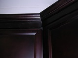 Espresso Colored recessed Panel Kitchen Cabinets gallery image