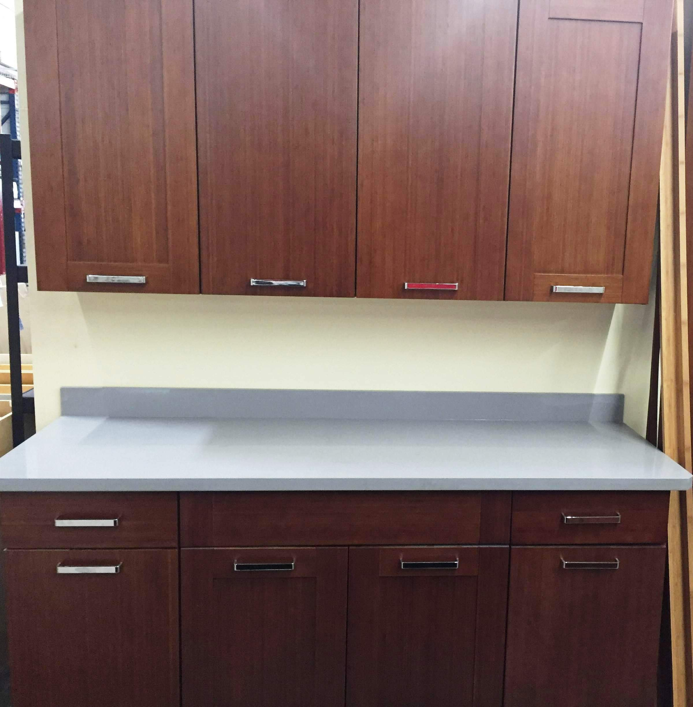 DISCONTINUED-Bamboo Flat Panel door Kitchen Cabinets