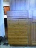 Bamboo Flat Panel door Kitchen Cabinets gallery image