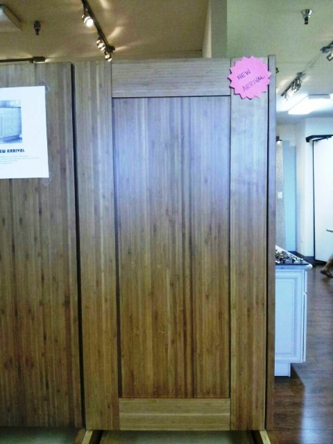 Bamboo Shaker Door Kitchen Cabinets