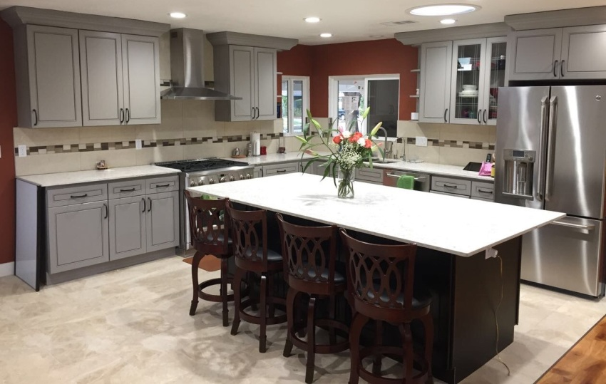 Grey Maple Kitchen Cabinets(K3) gallery image
