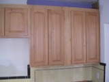 Light Honey Birch Arched Kitchen Cabinets Photo Album gallery image