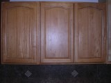 China Oak cathedral arched doors Kitchen Cabinets Photo Album gallery image