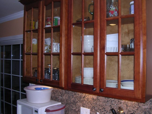 Natural Cherry Arched Door Kitchen Cabinets Photo Album