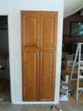 Honey Maple arched door Kitchen Cabinets Photo Album gallery image