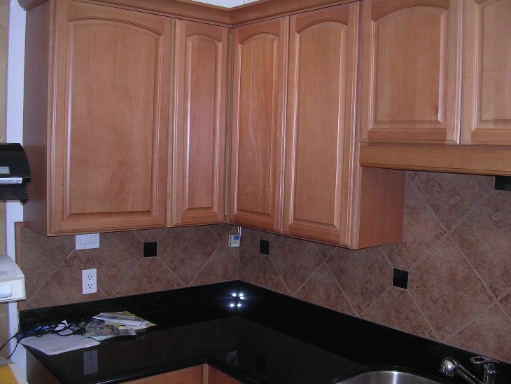 Light Coffee Color Beech Arched Door Kitchen Cabinets Catalog