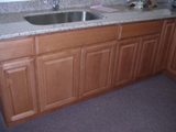 Light Coffee color Beech arched door Kitchen Cabinets catalog gallery image