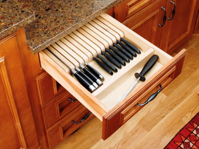 TRIMABLE KNIFE BLOCK STORAGE