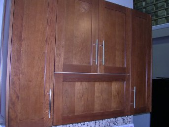 1F Natural American Cherry shaker cabinets,dovetail drawers,soft close