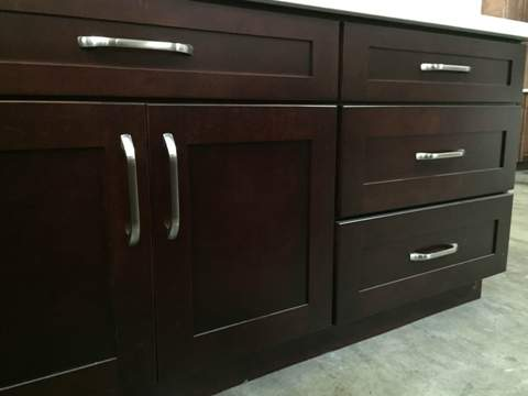 1I Cherry Colored Maple Shaker Cabinets,5 pc Drawer front,soft close