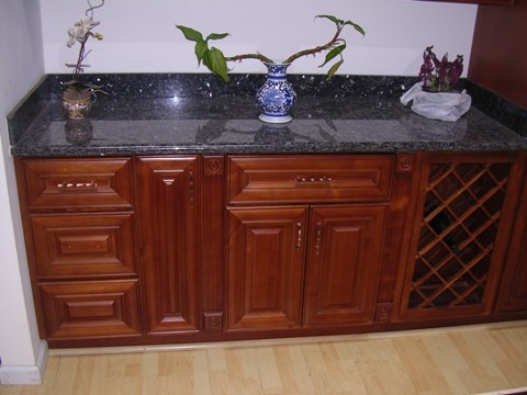 2L Cherry Colored Alaskian Alder Cabinets,dovetail drawers with soft close