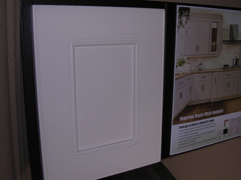 3L White Maple Hampton Resessed Panel Cabinets, dovetail with soft close slides