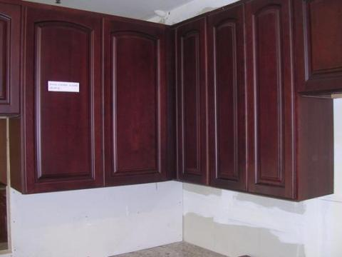 5H Dark Cherry Colored Beech Arched Door Cabinet,High-end Features