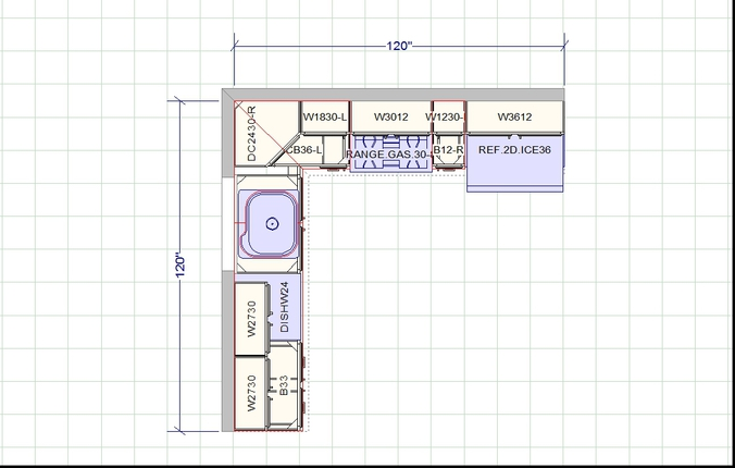 Kitchen design guidlines for Planning a kitchen layout