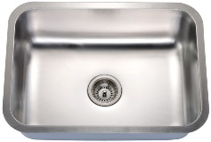 8-1 18 ga LARGE SINGLE BOWL SSTL SINKS